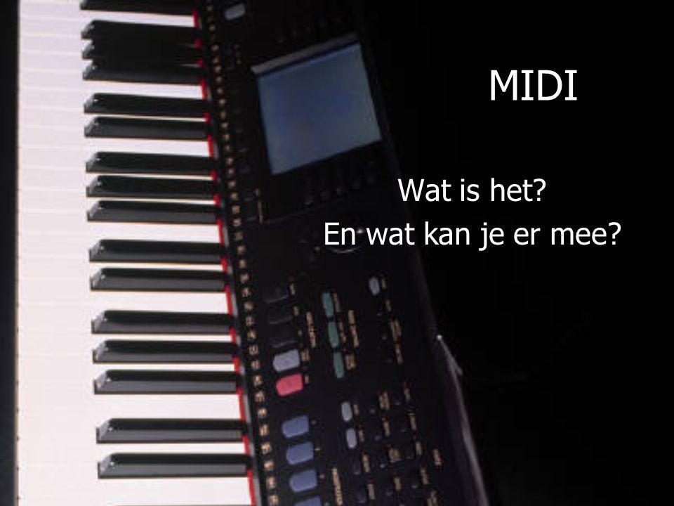 MIDI Wat is het En wat kan je er mee
