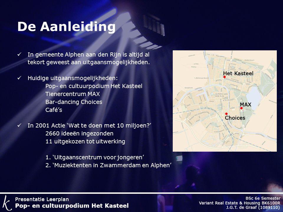 De Aanleiding In gemeente Alphen aan den Rijn is altijd al tekort geweest aan uitgaansmogelijkheden.
