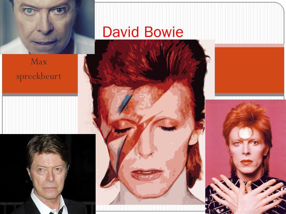 Max spreekbeurt David Bowie