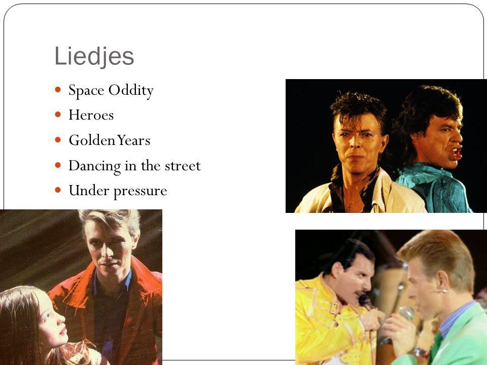 Liedjes Space Oddity Heroes Golden Years Dancing in the street Under pressure