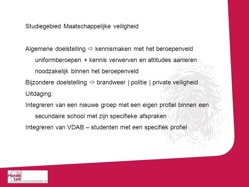 7 TSO Integrale veiligheid SPECIFIEK GEDEELTE - 31u AV Sport – LO – 6u AV Nederlands / Communicatie – 3u AV Frans – 2u AV Engels – 2u TV Recht -3u TV Veiligheidstechniek (bewaking, brandweer, politie) – 6u PV Praktijk veiligheidstechniek (bewaking, brandweer, politie) -5u PV/TV/WPL Stage veiligheidstechniek – 4u AV Frans / AV Engels – extra lessen - complementair – 2u