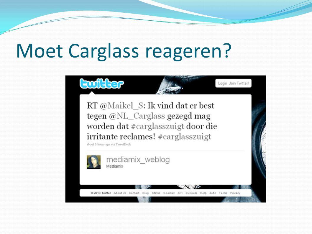 Moet Carglass reageren