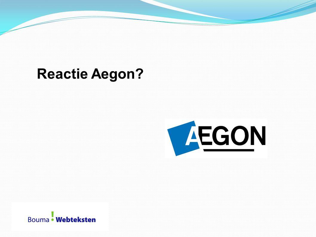 Reactie Aegon
