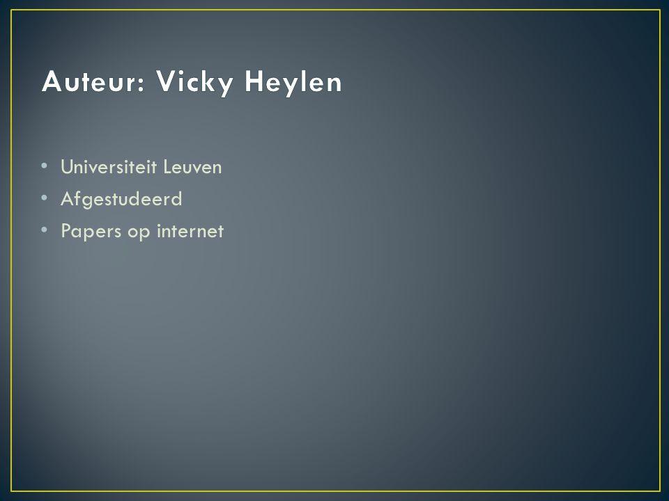 Universiteit Leuven Afgestudeerd Papers op internet