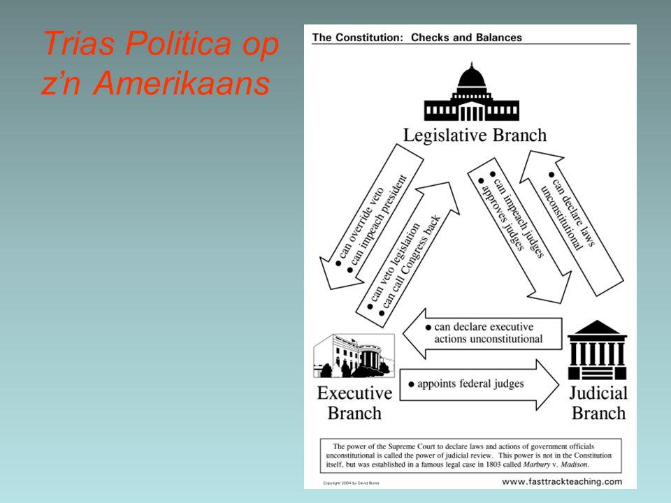 Trias Politica op z'n Amerikaans