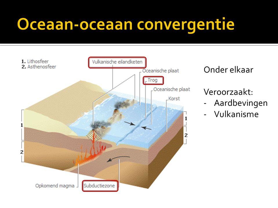 Onder elkaar Veroorzaakt: -Aardbevingen -Vulkanisme