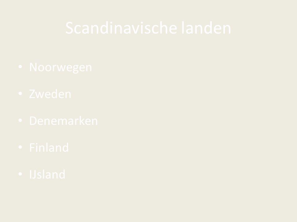 Scandinavische landen Noorwegen Zweden Denemarken Finland IJsland