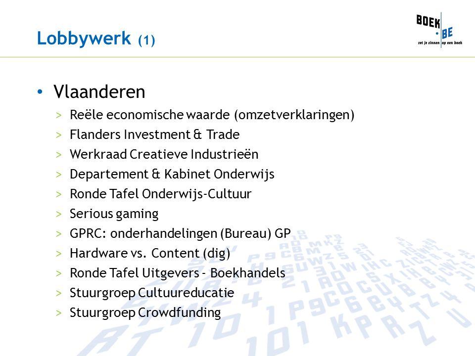 Lobbywerk (1) Vlaanderen >Reële economische waarde (omzetverklaringen) >Flanders Investment & Trade >Werkraad Creatieve Industrieën >Departement & Kabinet Onderwijs >Ronde Tafel Onderwijs-Cultuur >Serious gaming >GPRC: onderhandelingen (Bureau) GP >Hardware vs.