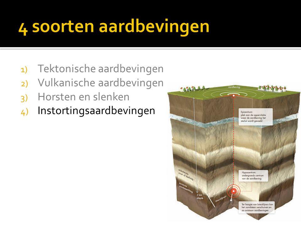 1) Diepte van de aardbeving. 2) Wrijving van de platen.