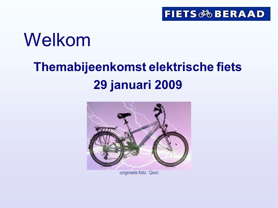 Themabijeenkomst elektrische fiets 29 januari 2009 Welkom originele foto: Qwic