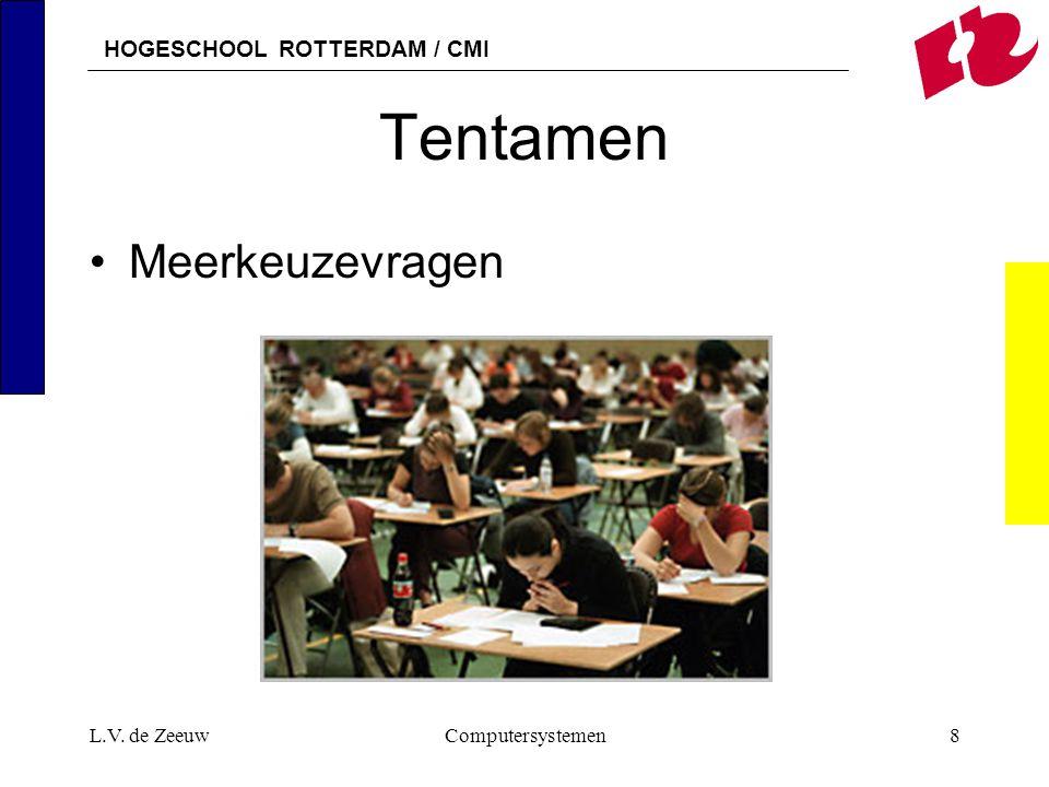 HOGESCHOOL ROTTERDAM / CMI L.V. de ZeeuwComputersystemen8 Tentamen Meerkeuzevragen