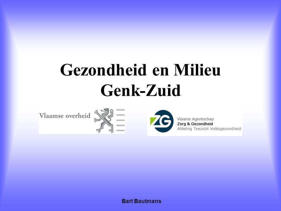Gezondheid en Milieu Genk-Zuid Bart Bautmans