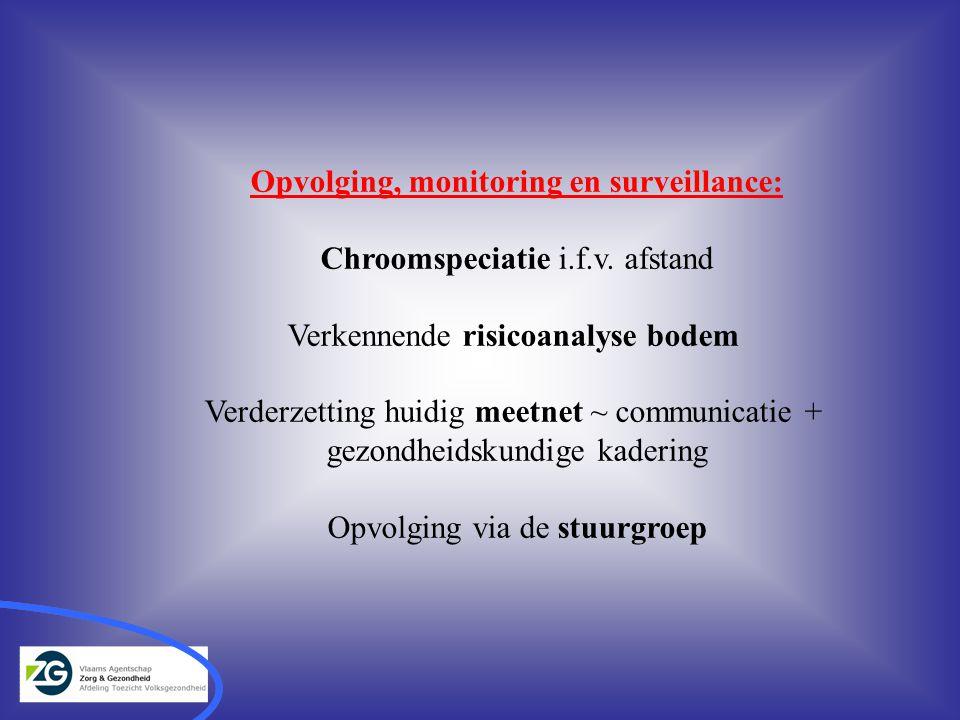 Opvolging, monitoring en surveillance: Chroomspeciatie i.f.v.
