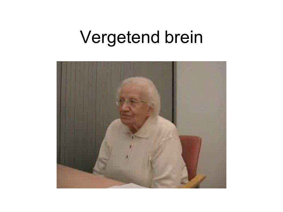 Vergetend brein