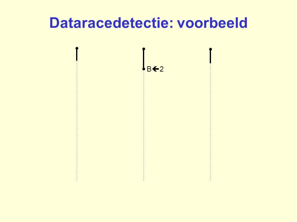 B2B2 Dataracedetectie: voorbeeld