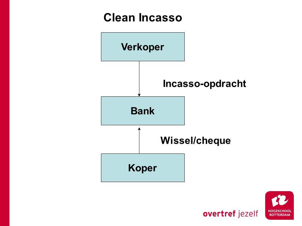 Verkoper Bank Koper Wissel/cheque Clean Incasso Incasso-opdracht