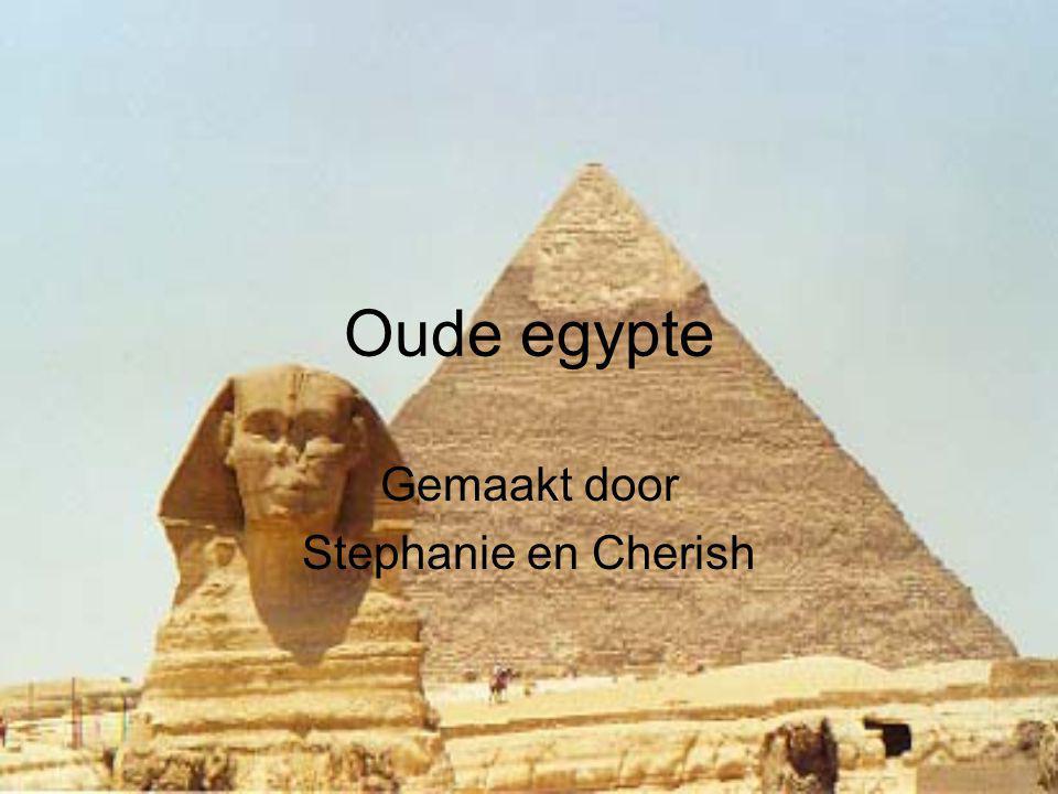 Oude egypte Gemaakt door Stephanie en Cherish