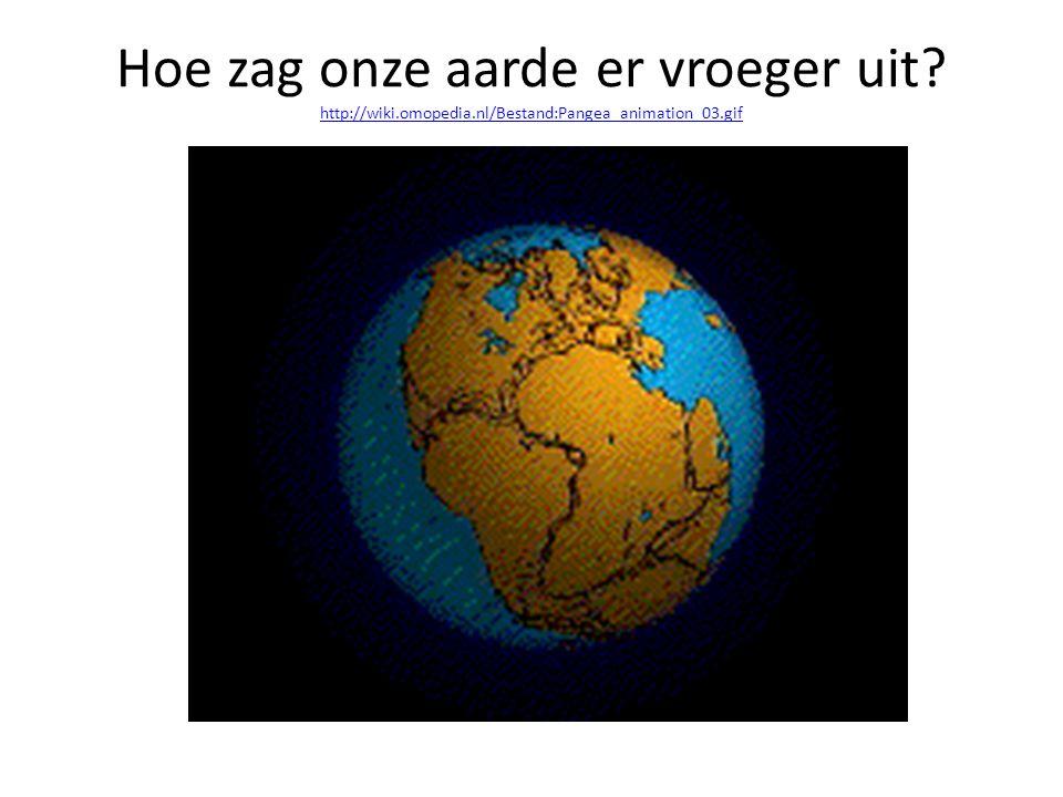 Hoe zag onze aarde er vroeger uit.
