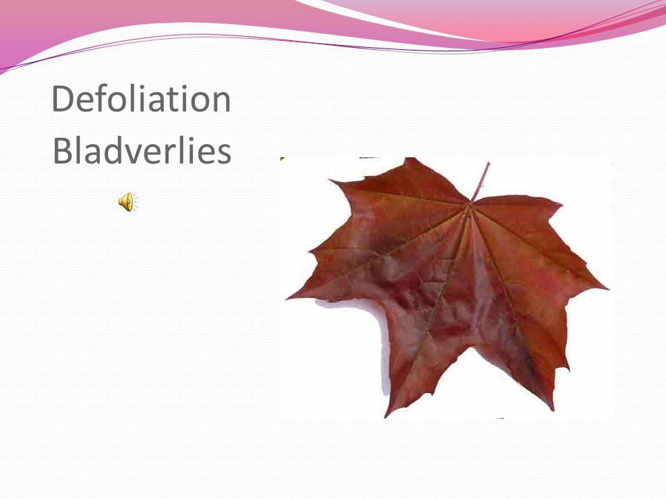 Defoliation Bladverlies