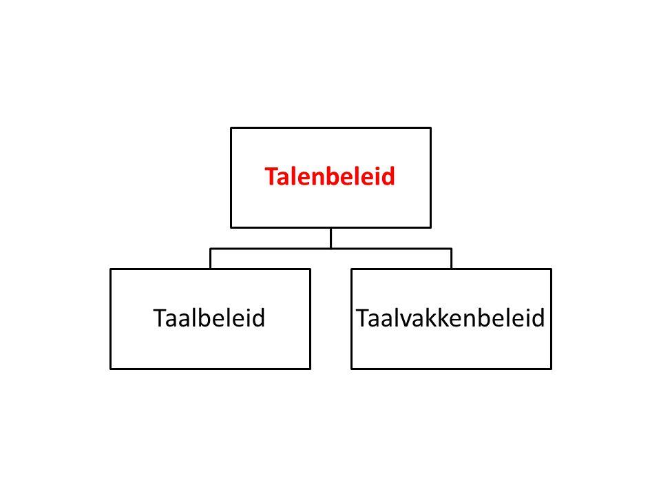 Talenbeleid TaalbeleidTaalvakkenbeleid
