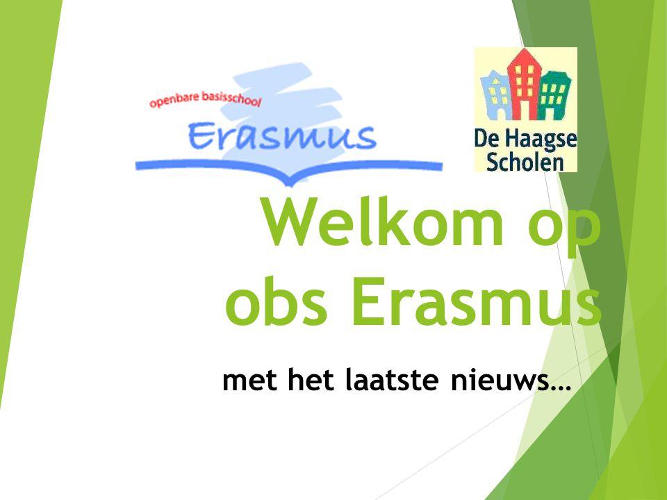 Welkom op obs Erasmus met het laatste nieuws…