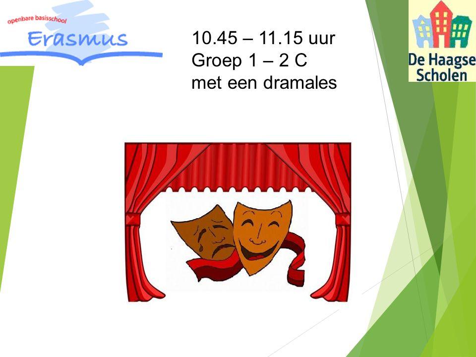 10.45 – 11.15 uur Groep 1 – 2 C met een dramales