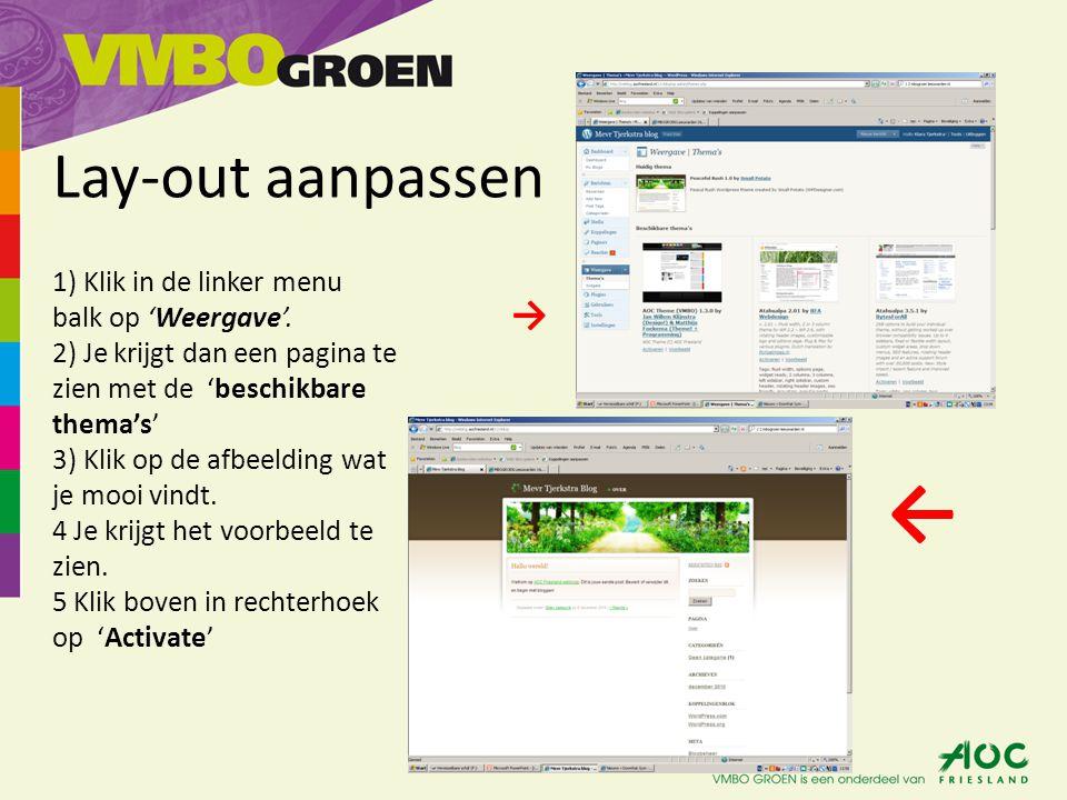 Naam van weblog aanpassen 1)Klik in de linker menu balk op 'Instellingen' 2)Als eerste kopje zie je staan; 'Blogtitel' 3)Geef hier achter aan hoe jou weblog moet heten, bijv.