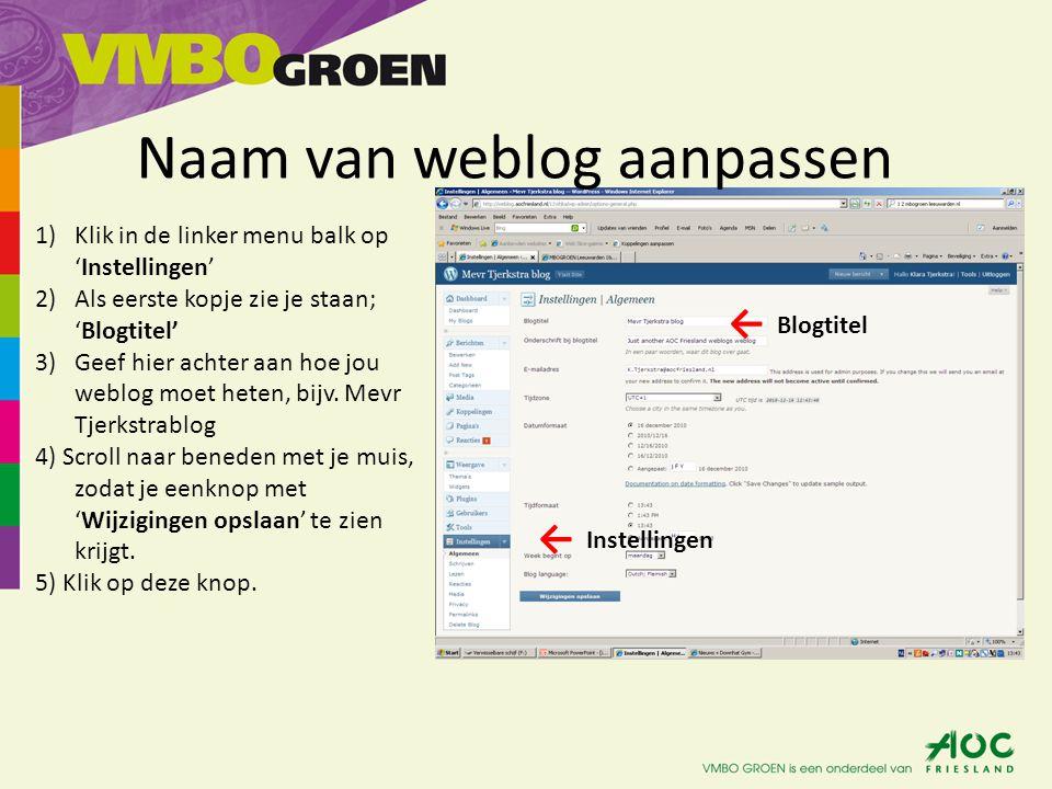 Docenten toevoegen aan jouw weblog 1)Klik in de linker menu op: 'Gebruikers'.