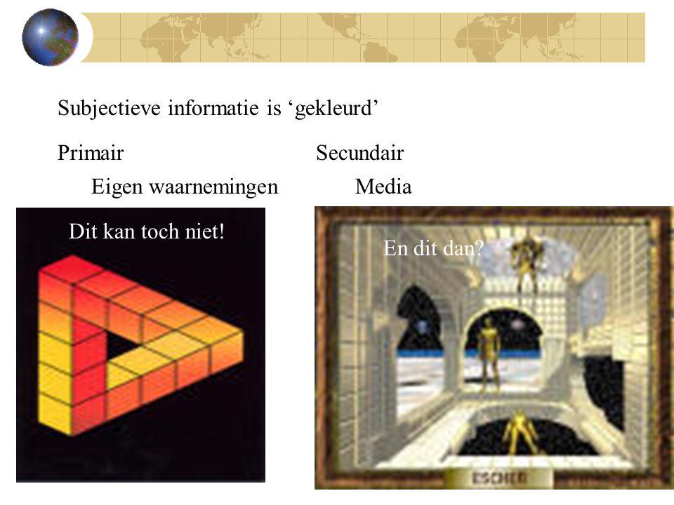 Soms wordt informatie opzettelijk vervormd om zo zaken anders voor te stellen dan ze zijn of om een doel te bereiken.