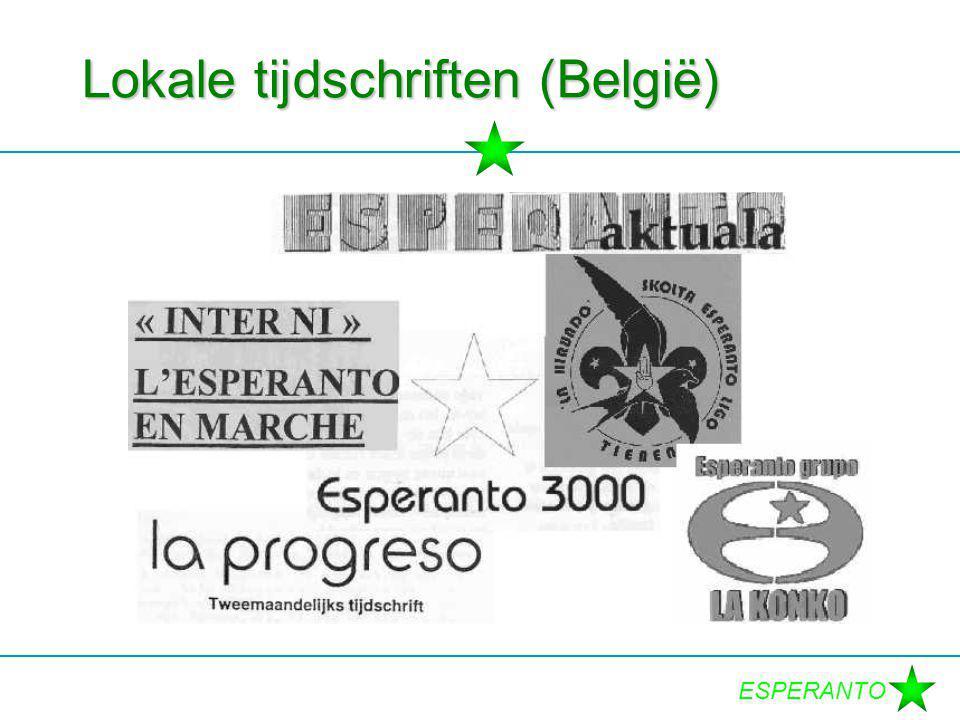 ESPERANTO Lokale tijdschriften (België)