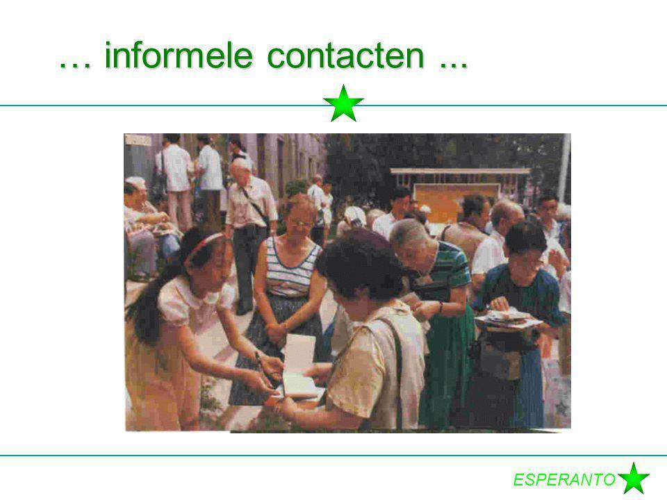ESPERANTO … informele contacten...