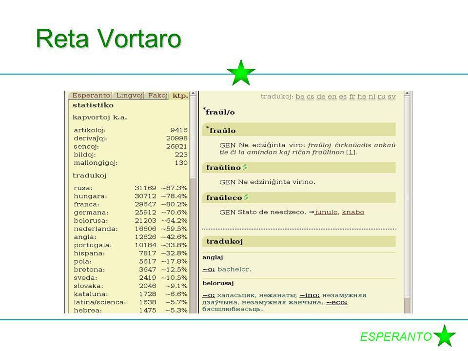 ESPERANTO Reta Vortaro