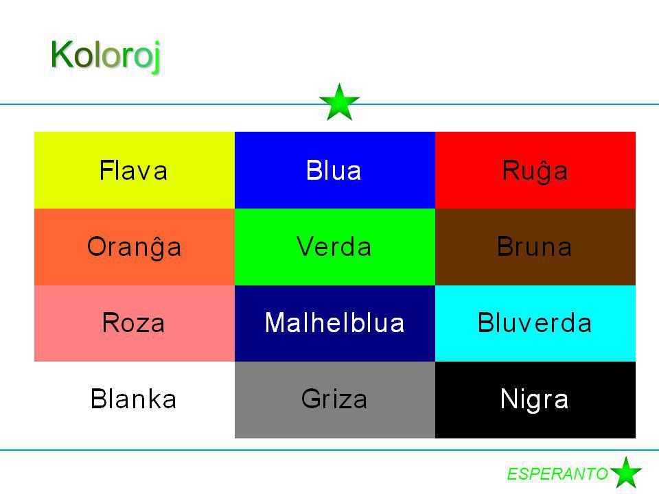 ESPERANTO KolorojKolorojKolorojKoloroj