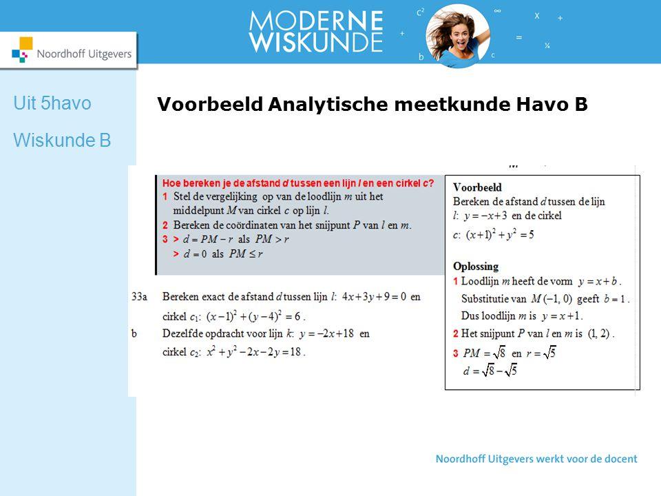 Voorbeeld Analytische meetkunde Havo B Uit 5havo Wiskunde B