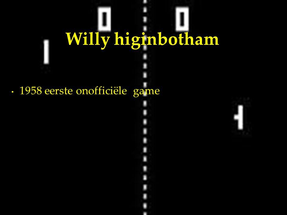 1958 eerste onofficiële game Willy higinbotham