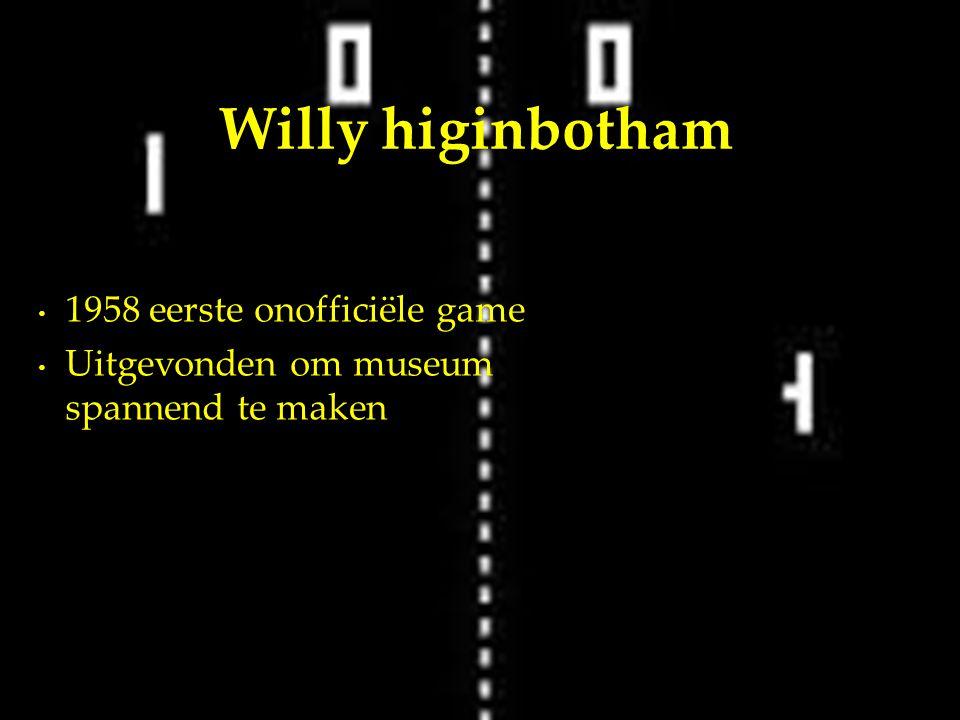 1958 eerste onofficiële game Uitgevonden om museum spannend te maken Willy higinbotham