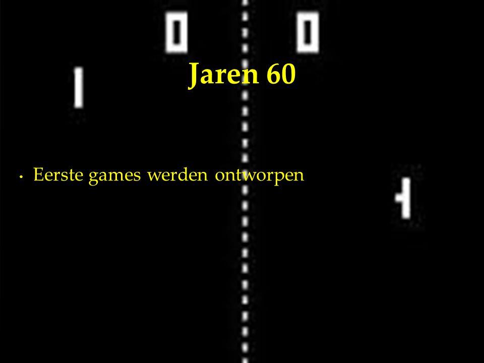 Eerste games werden ontworpen Jaren 60
