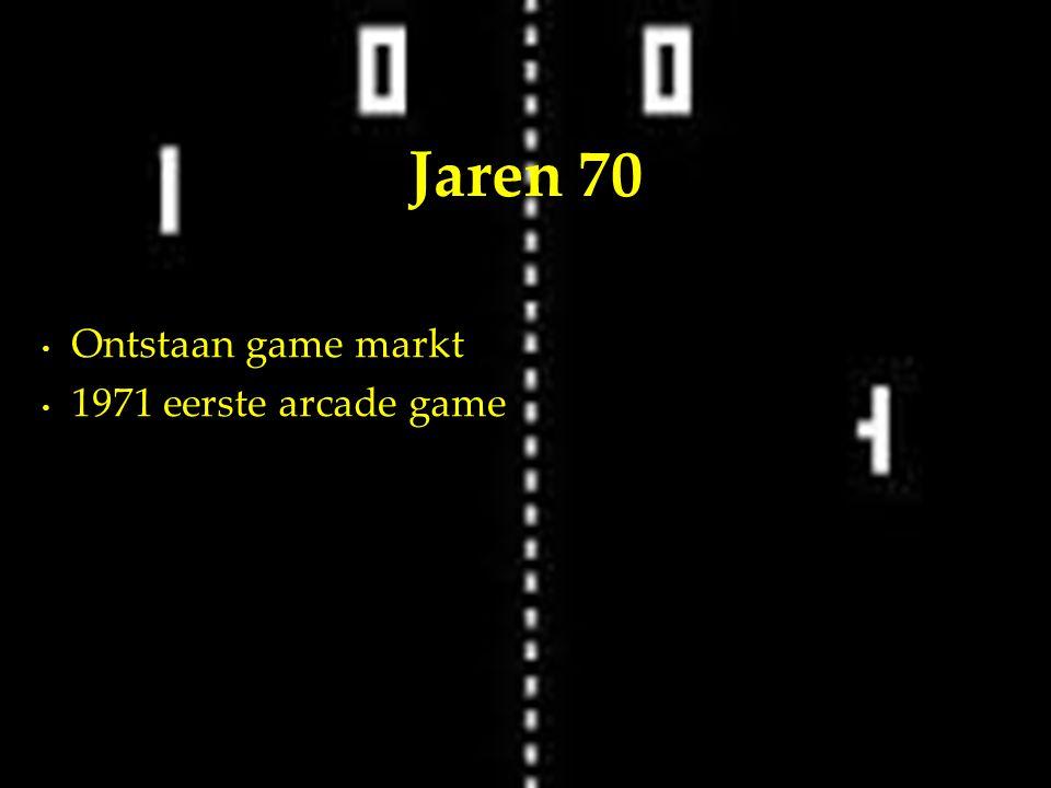 Ontstaan game markt 1971 eerste arcade game Jaren 70