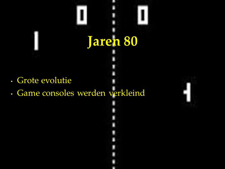 Grote evolutie Game consoles werden verkleind Jaren 80