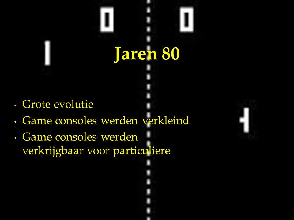 Grote evolutie Game consoles werden verkleind Game consoles werden verkrijgbaar voor particuliere Jaren 80