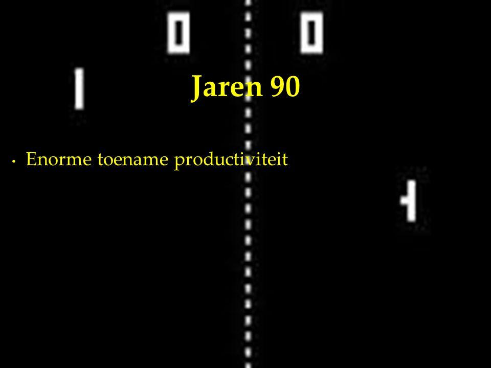 Enorme toename productiviteit Jaren 90