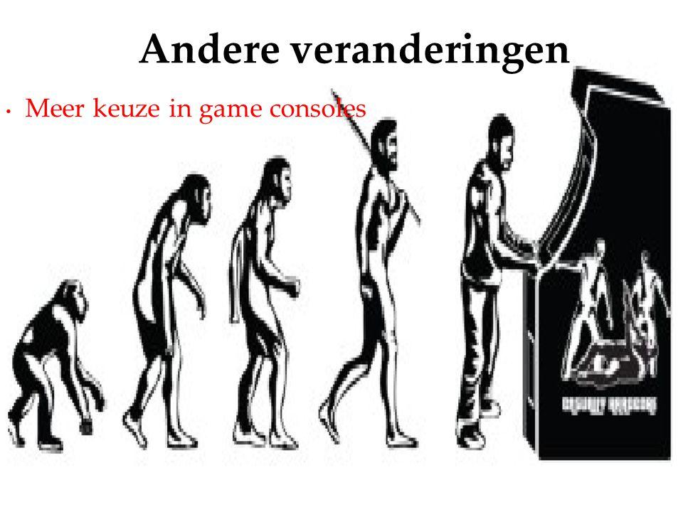 Meer keuze in game consoles Andere veranderingen