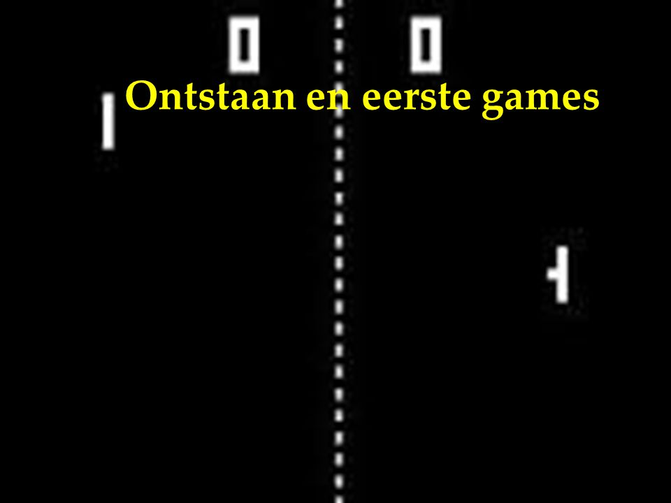 Enorme toename productiviteit Eerste aparte games werden verkocht Jaren 90