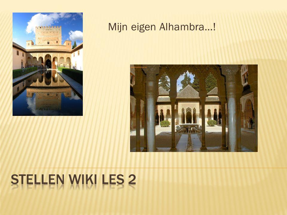 Mijn eigen Alhambra…!
