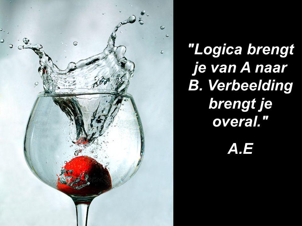 Logica brengt je van A naar B. Verbeelding brengt je overal. A.E