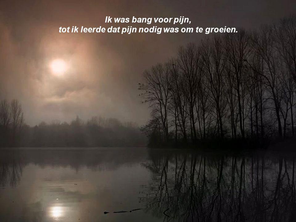 Ik was bang voor pijn, tot ik leerde dat pijn nodig was om te groeien.