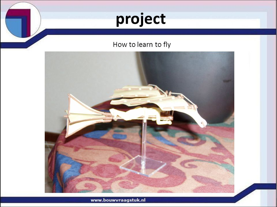 project How to learn to fly