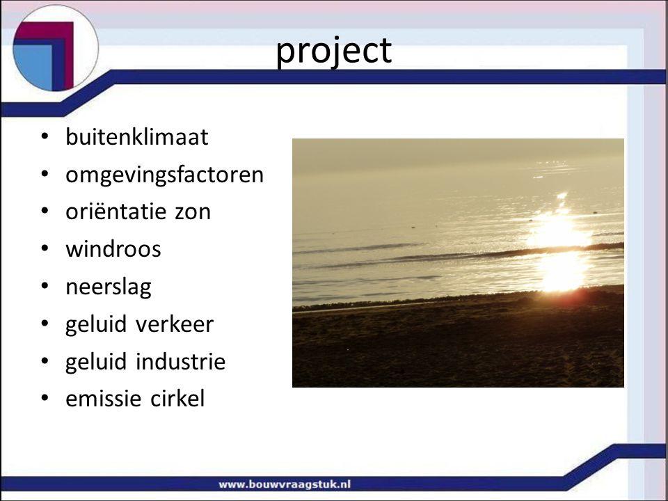 project binnenklimaat thermisch klimaat luchttemperatuur stralingstemperatuur luchtbeweging luchtvochtigheid luchtreinheid CO 2 indicator