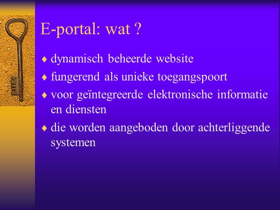 E-portal: wat .