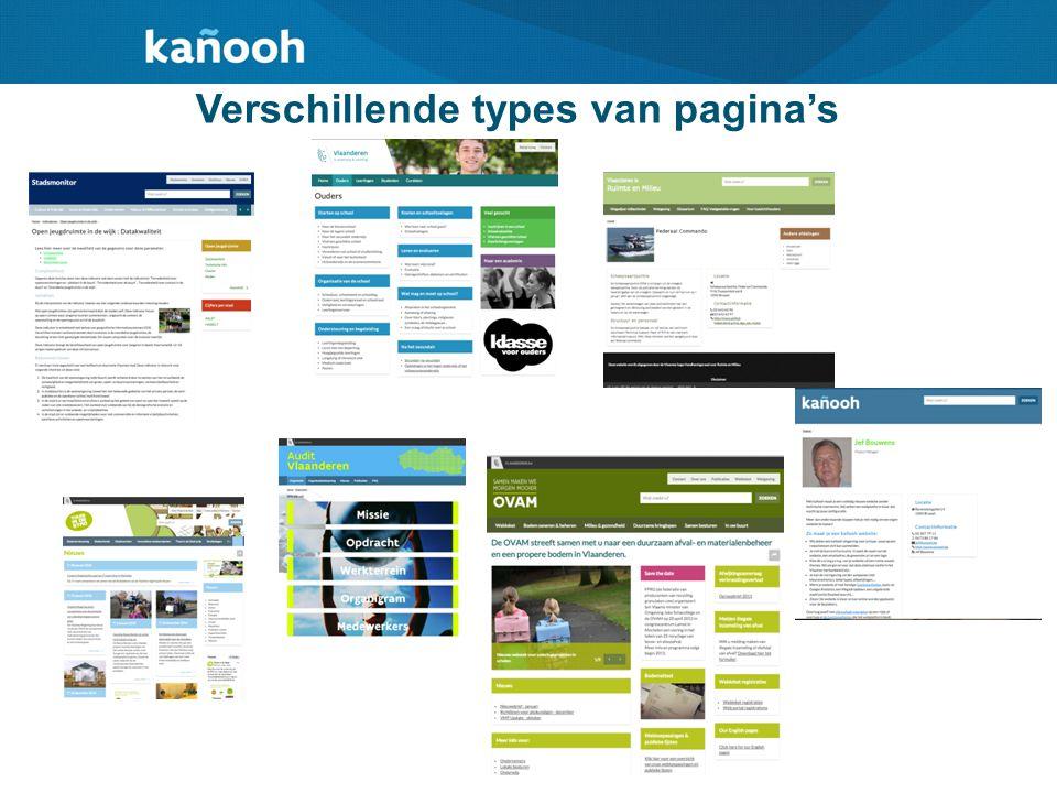 Verschillende types van pagina's